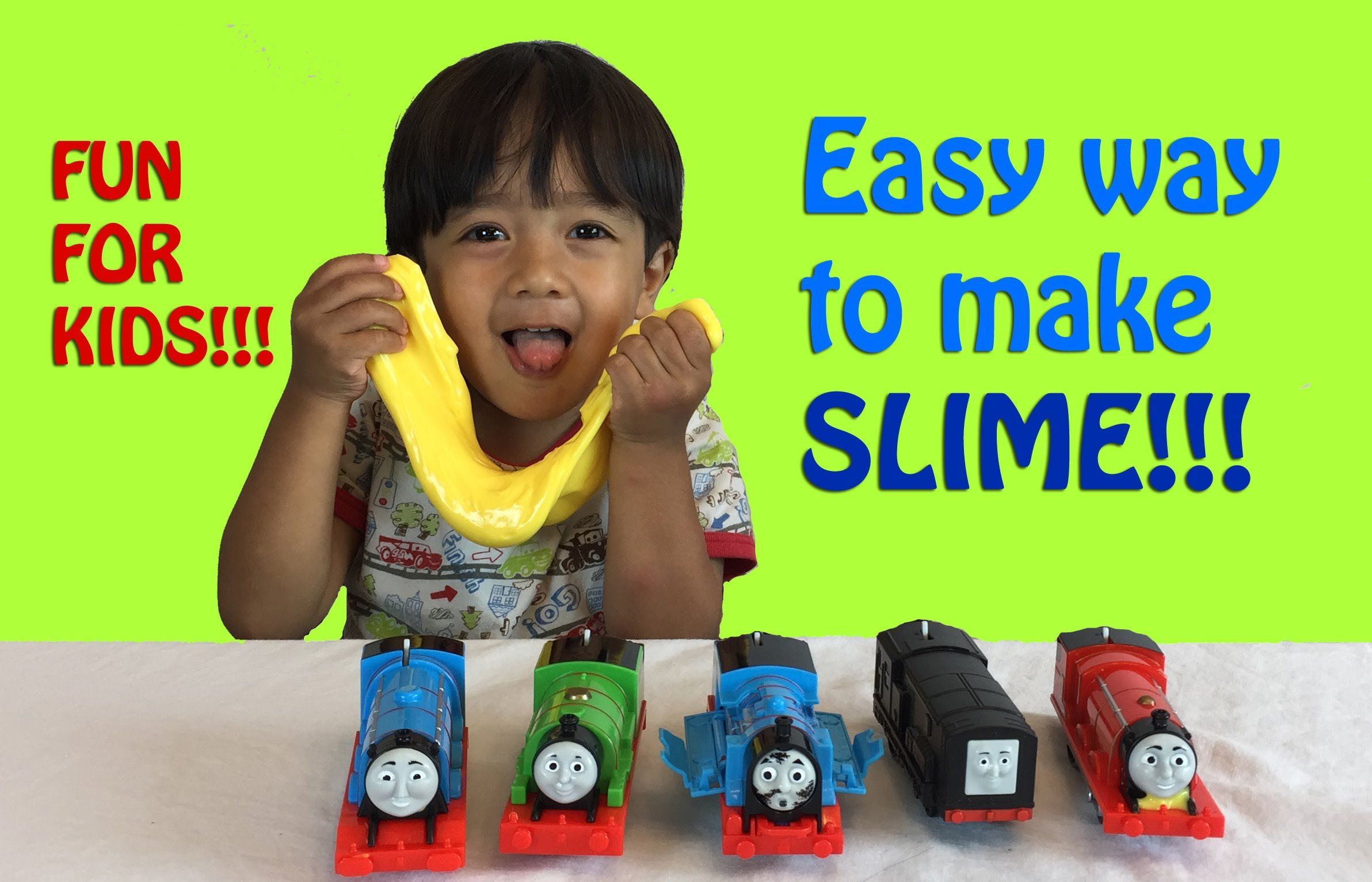 How To Make Slime Easy Science Experiments For Kids With Thomas Friends