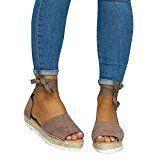 Amazon bietet Meedot Open Sandalen Damen Flache Schuhe Plattform Sommer Schuhe. …