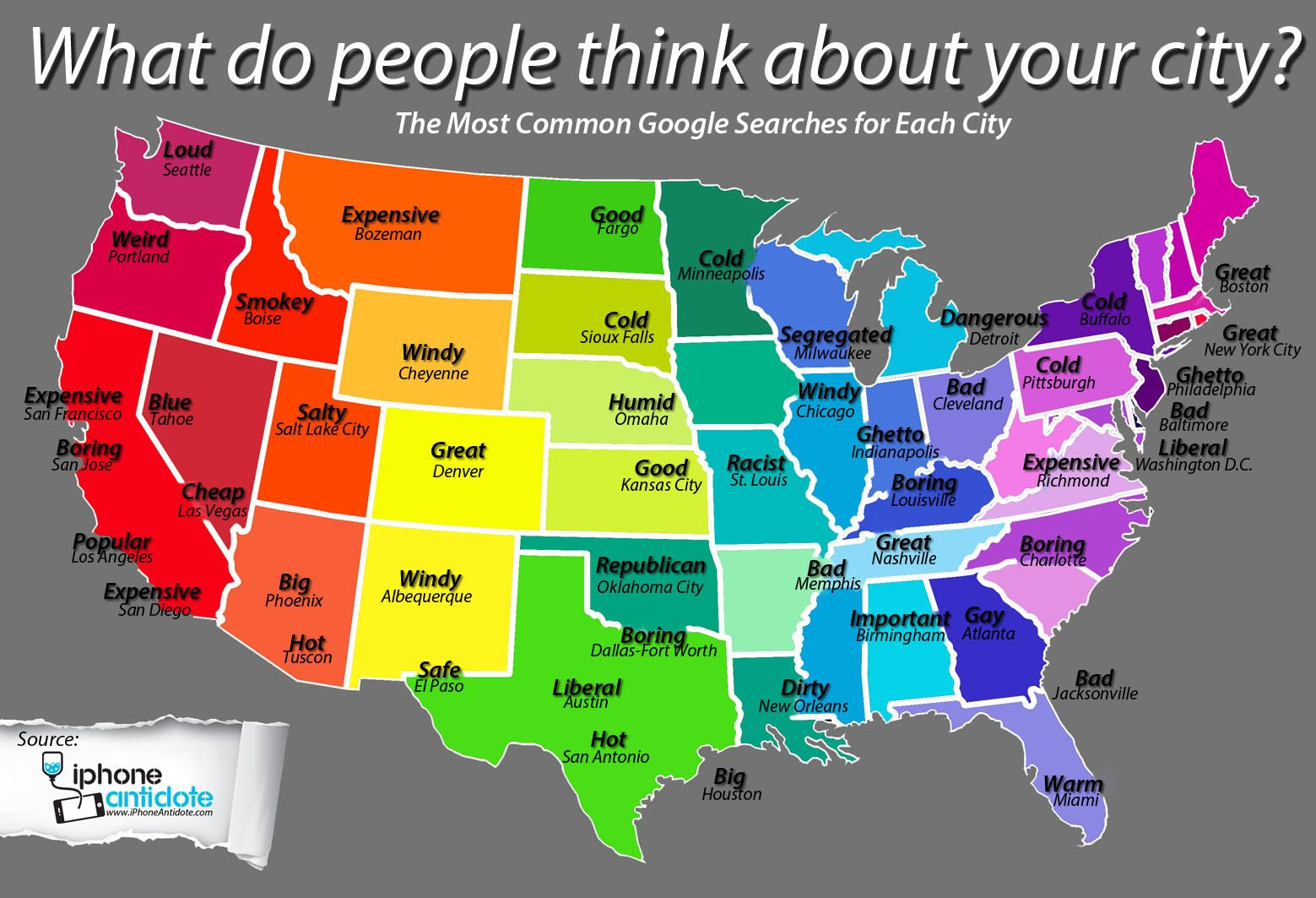 The Most Common Google Searches For Each City Infographic City Sioux Falls