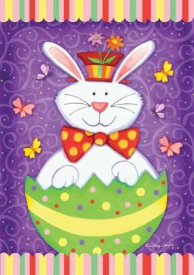 Easter Flags Bunny Surprise Easter Flag MadAboutGardeningcom