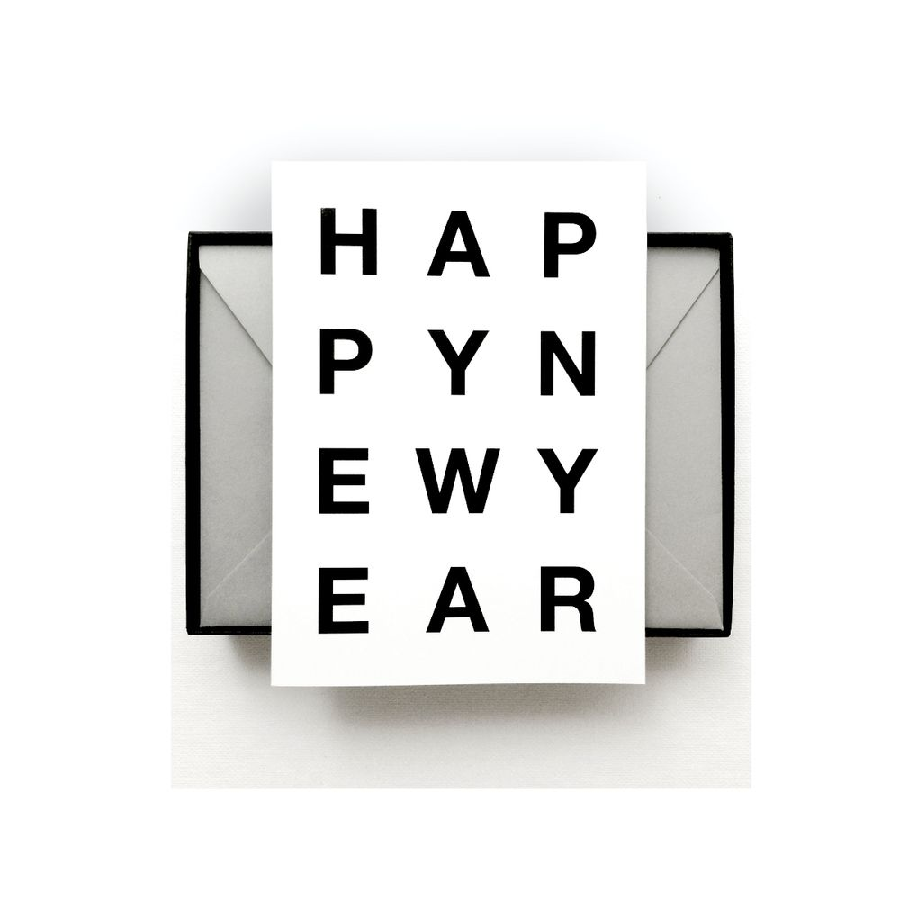 new year cards modern typography greeting cards on shop dlk