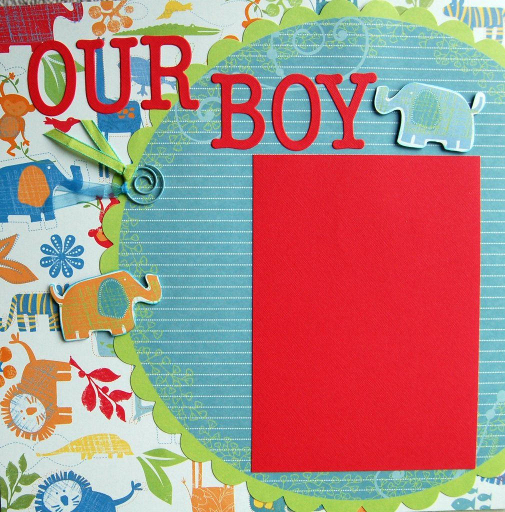 Boy Scrapbook Layouts Premade Baby Boy Scrapbook 2 Page Layout By