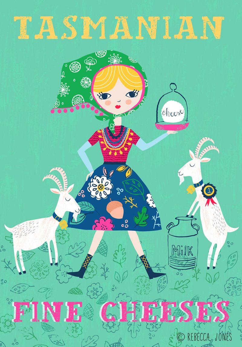 #goatvet likes this poster art - Rebecca_Jones_Goat farmer2