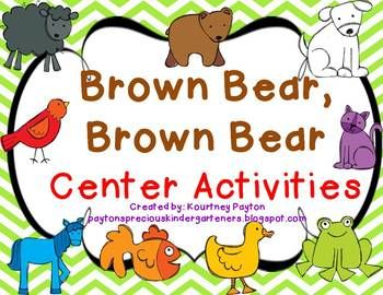 Brown Bear, Brown Bear Center Activities | Schoolish ...