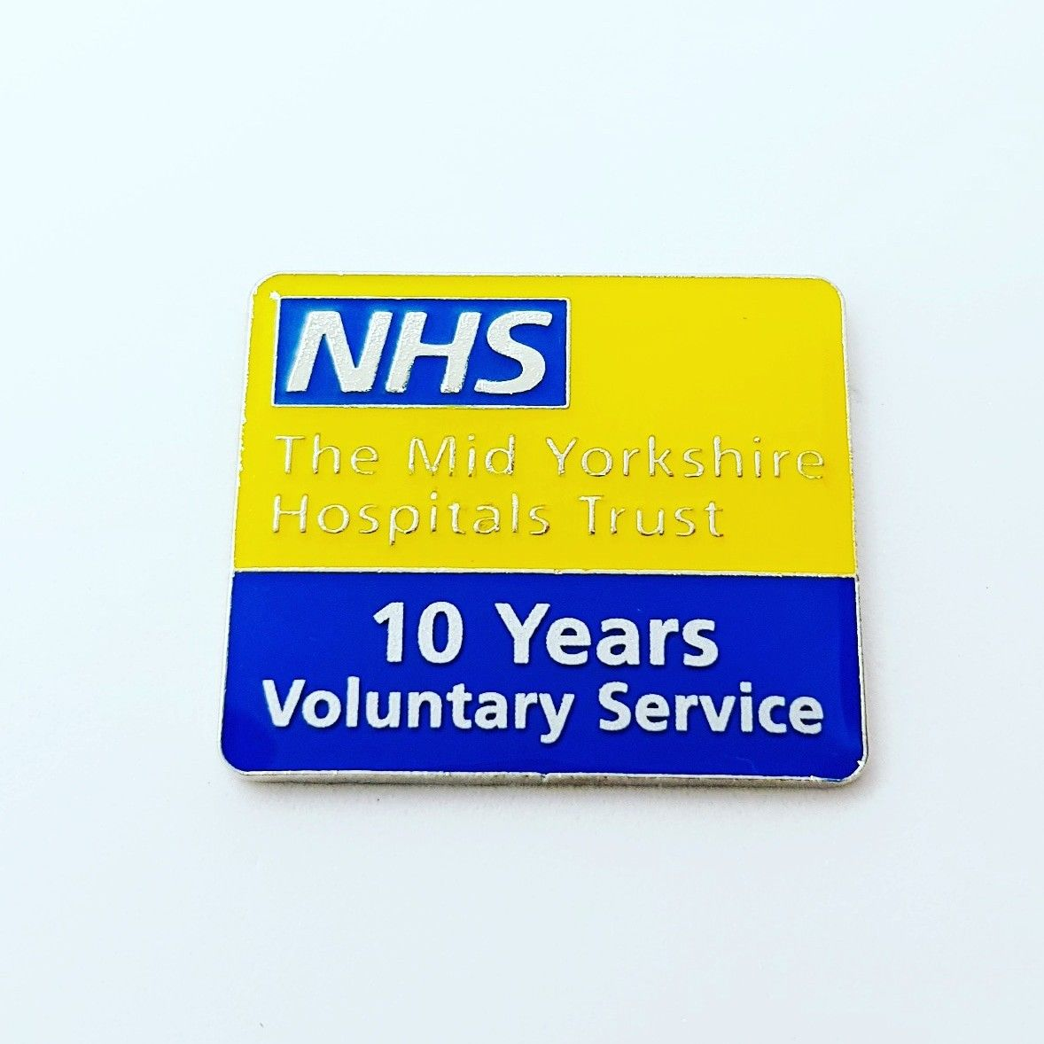 NHS Volunteer badges for 5-30 year service with cost saving