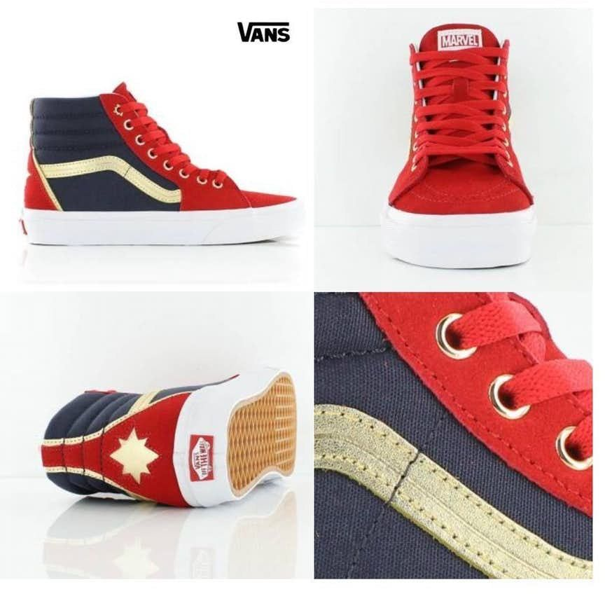 6e7a0706e2b Captain Marvel Vans lookin lit🔥🔥🔥