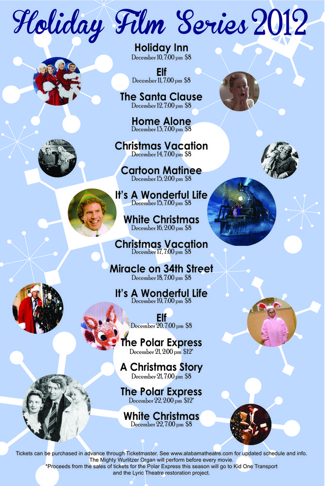 Holiday Film Series 2012 poster Christmas vacation