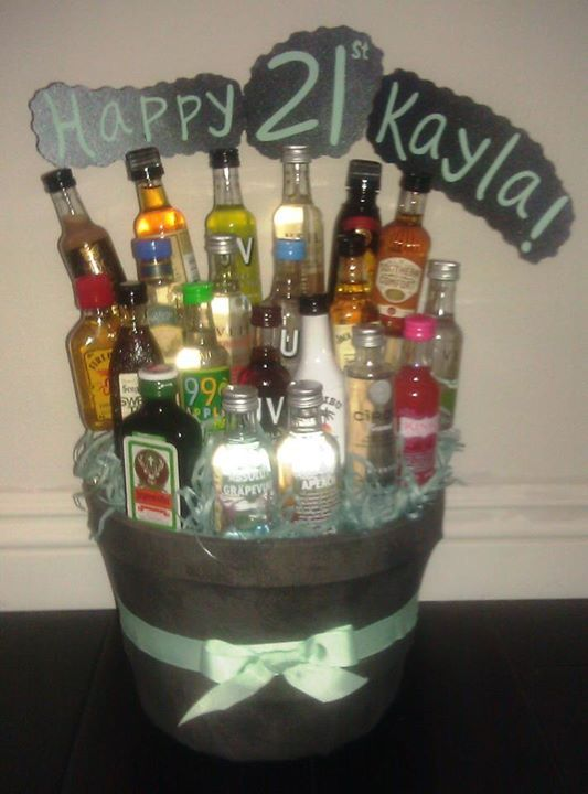 21st Birthday Alcohol Bouquet Alcohol Bouquet Liquor