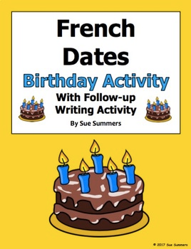 French Dates Birthday Interview and Followup Activity