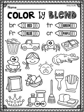 R Blends Worksheets and Activities No Prep Pack | Blends ...