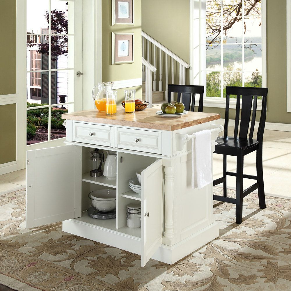 Kitchen Island Stools With Backs Are Very Comfortable : Block Black Top  Design Kitchen Island Stools
