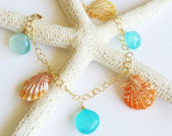 Plumeria sunrise shell necklace sunrise shell by MaimodaJewelry