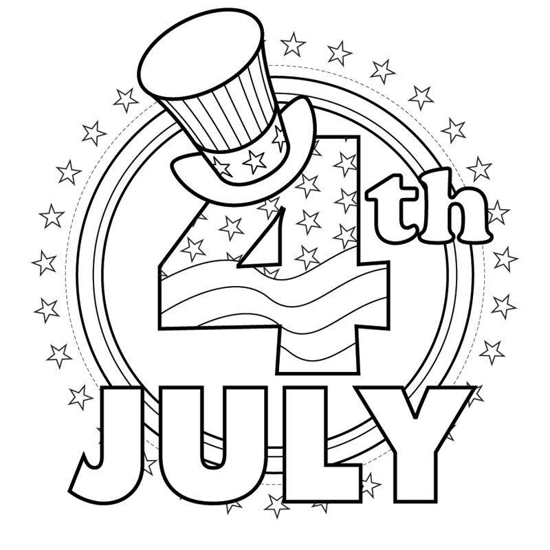 4th Of July Coloring Page Com Imagens Actividades Para
