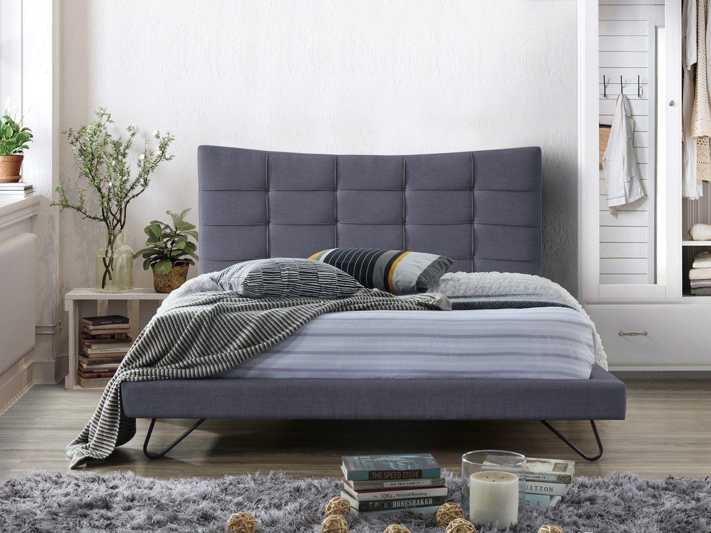 Velvet Eu Super King Size Bed Grey Lannion Upholstered Beds