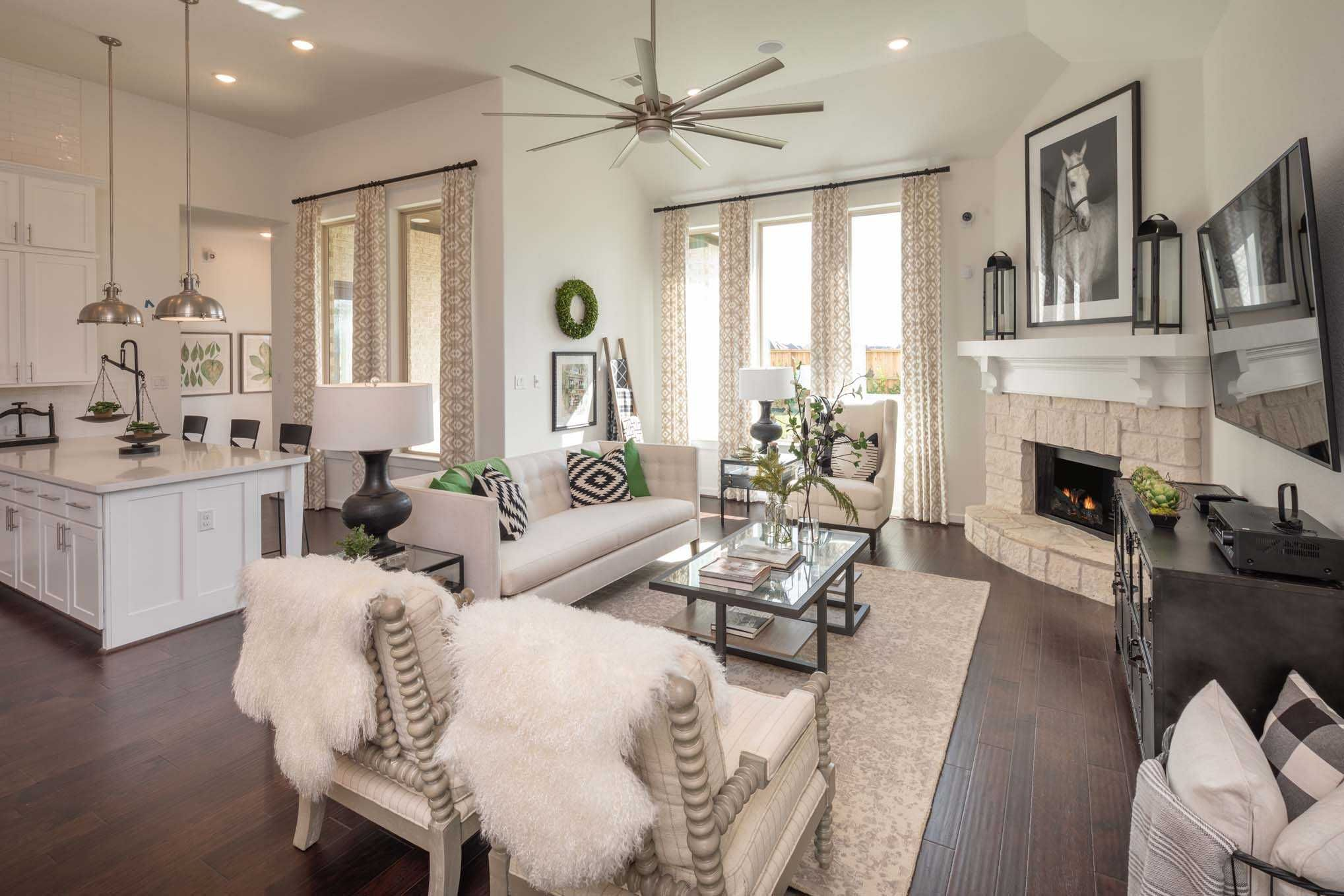 Family Room in Highland Homes 200 Plan at 3502 Halladay