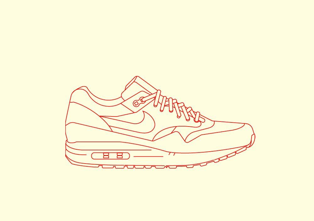 Phase 2: Nike Airmax 1 Illustration   Illustrations   Nike