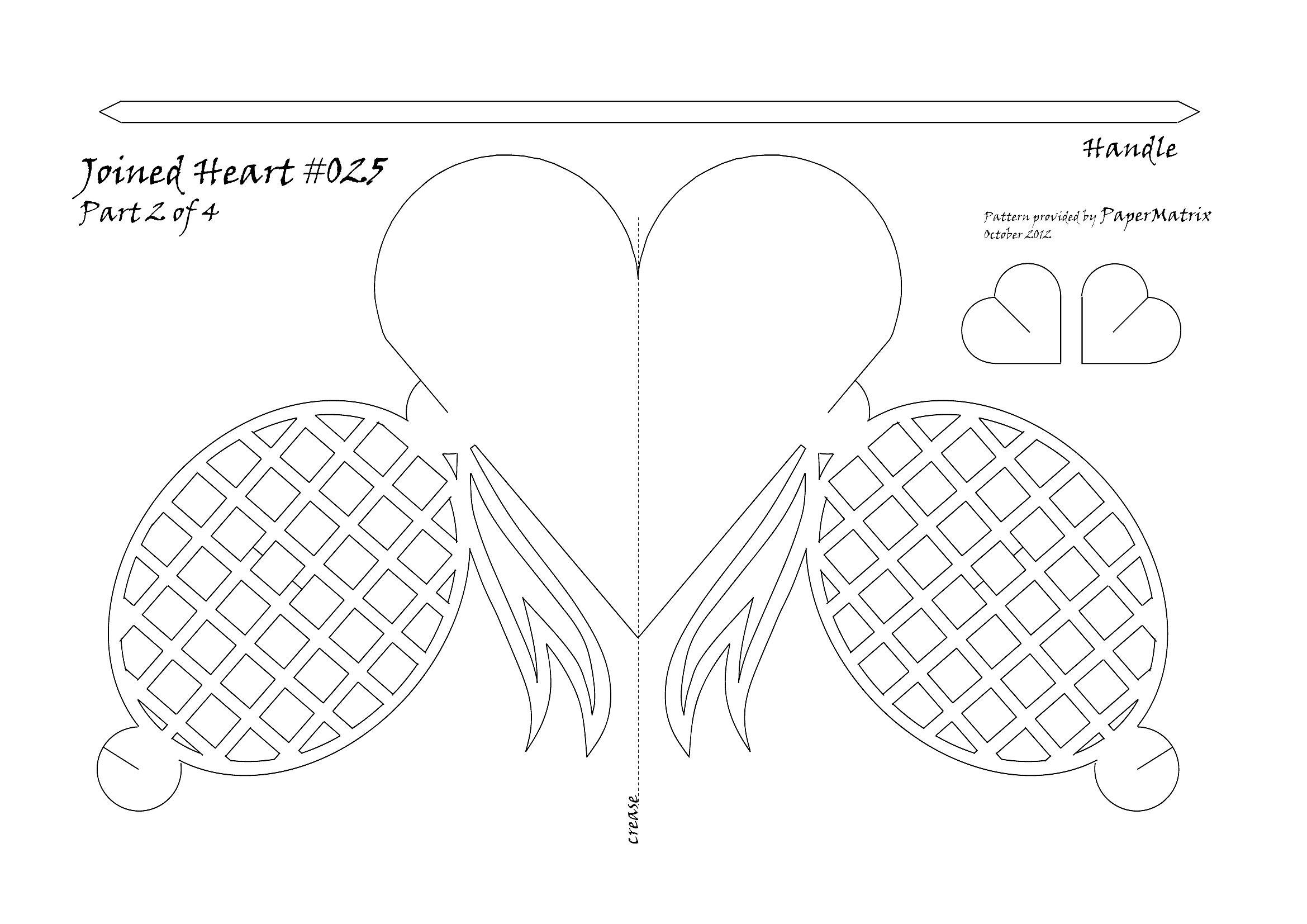 Bow heart 025 pattern 2 template loves pinterest paper hearts bow heart 025 pattern 2 maxwellsz
