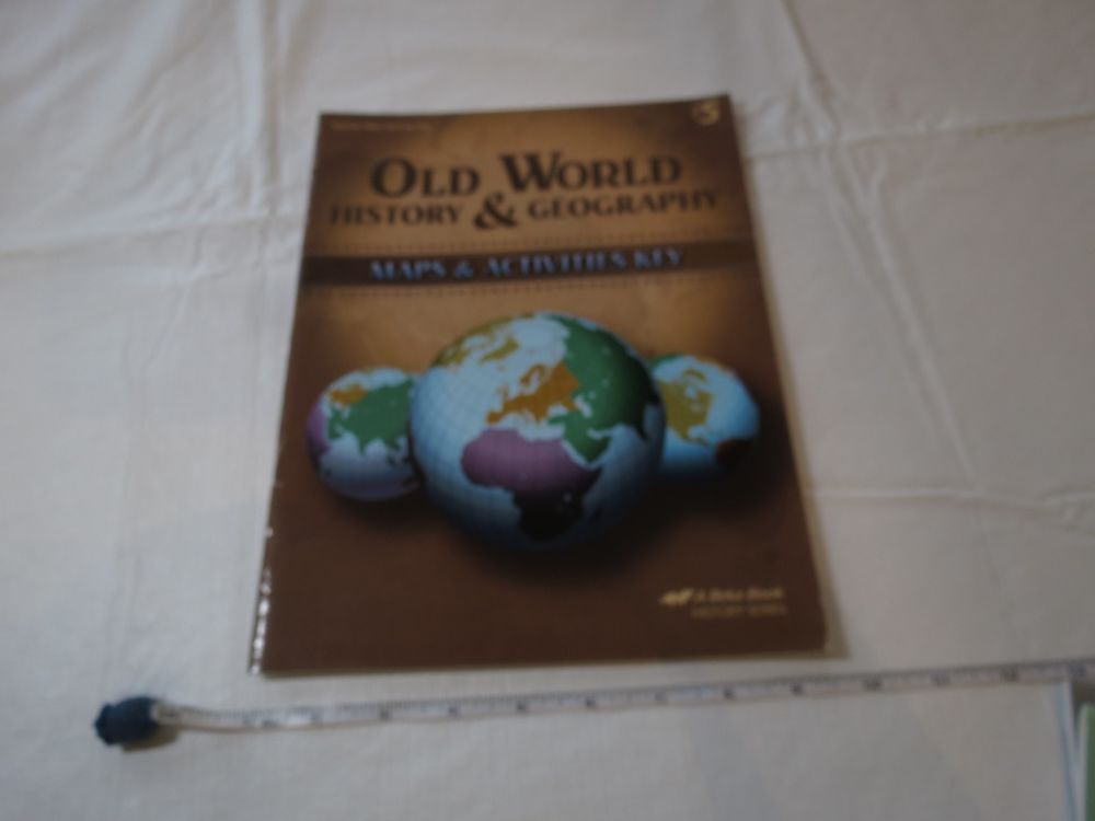 Old world history geography teacher map activity book a beka home old world history geography teacher map activity book a beka home school grade 5 schoolbook gumiabroncs Images
