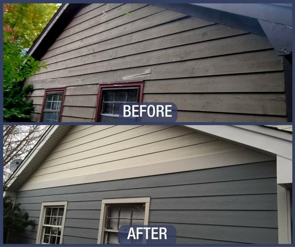 Gray Slate Siding Before Amp After Siding Grey Siding