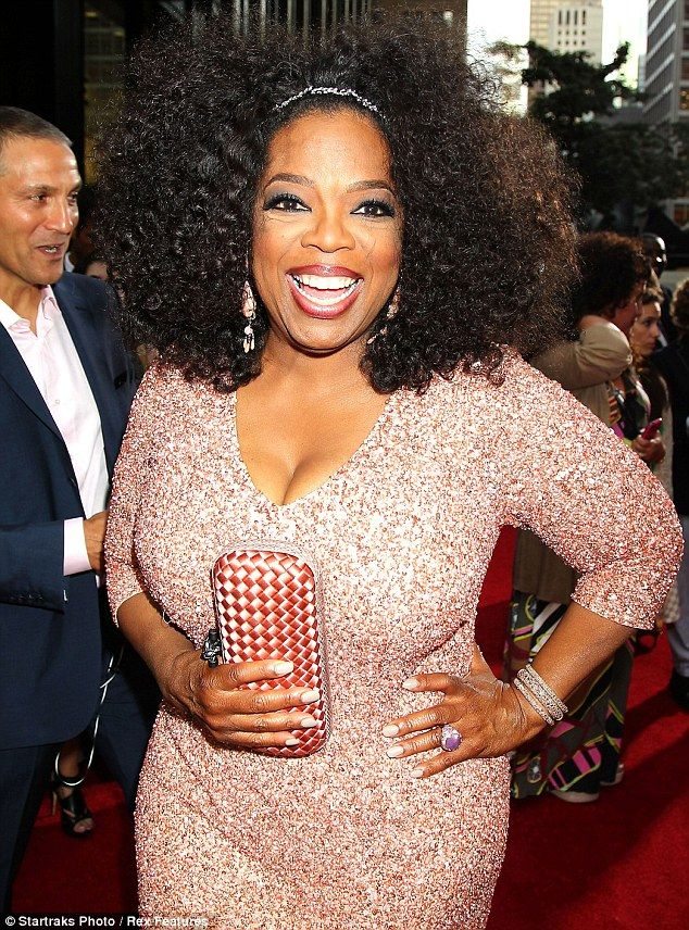 Hair Oprah Wore Her In A Large Afro After Unveiling Cover Of Wig