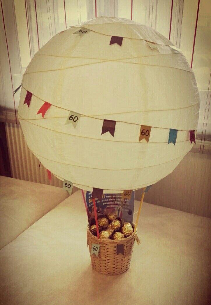 Geschenk Ballonfahrt 60 Geburtstag 60 Geburtstag Ideen