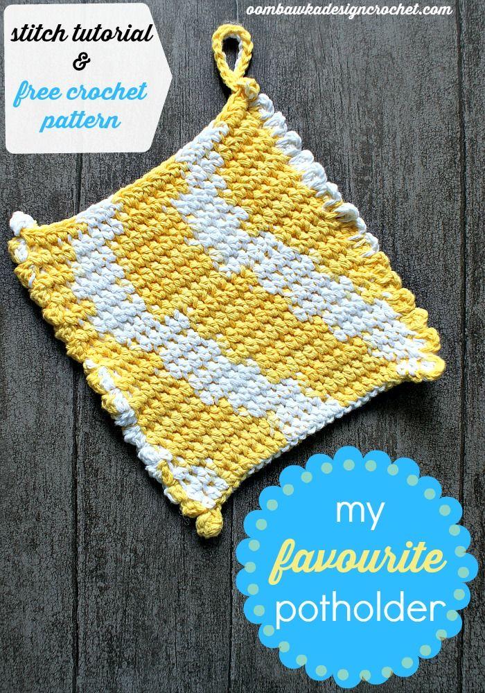 My Favorite Potholder Pattern | Topflappen, Häckeln und Anleitungen
