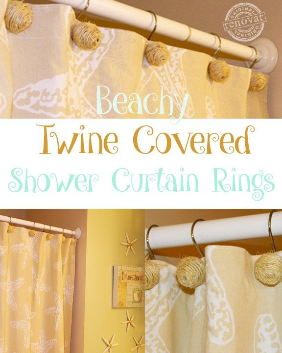 How To Make Beachy Twine Covered Shower Curtain Hooks Beachy