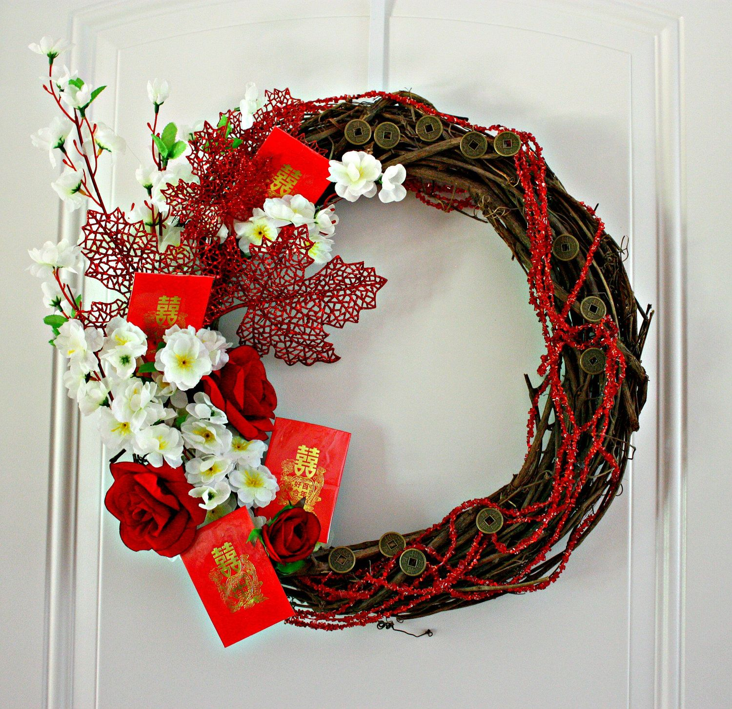 Autumn Harvest Wreath Celebrate Chinese Moon Festival