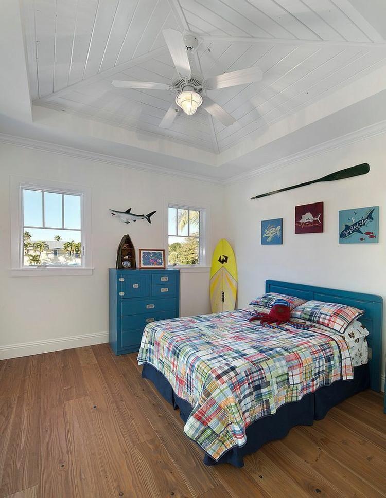 Idée déco chambre enfant: la chambre enfant tropicale