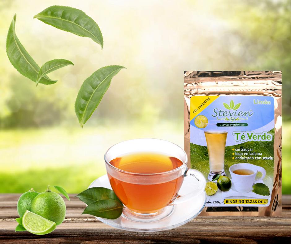 El mejor té verde sabor limón, listo para disolverse  Sin