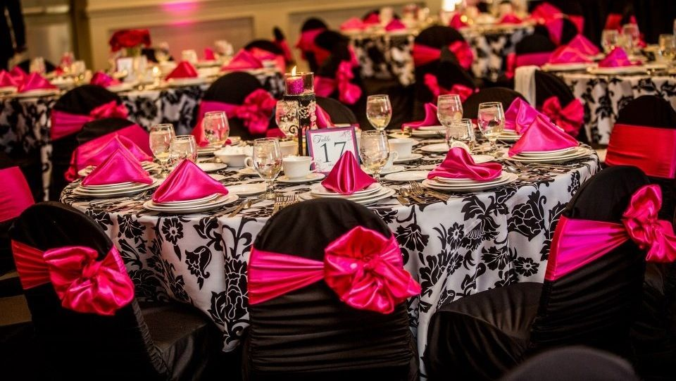 Black white and hot pink wedding ideas