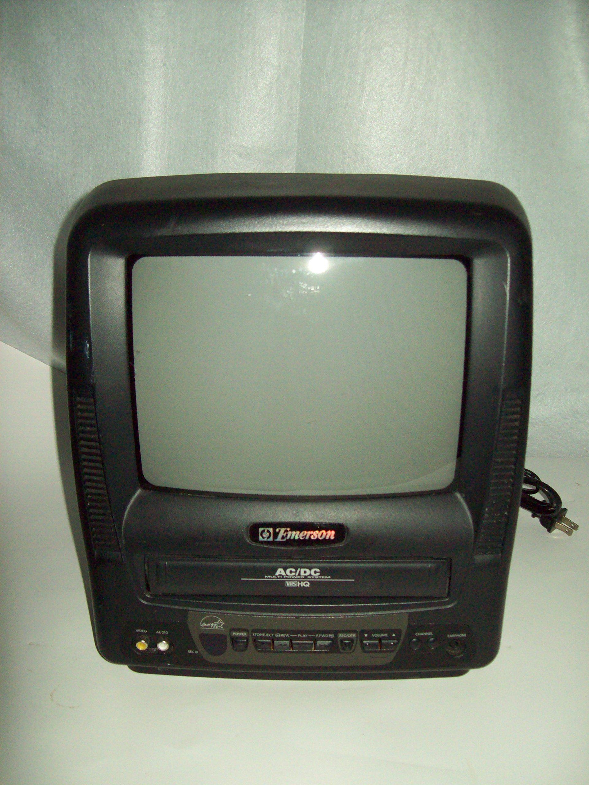 Emerson EWC0903 TV VCR Combo 9 Inch AC / DC Compatible (13