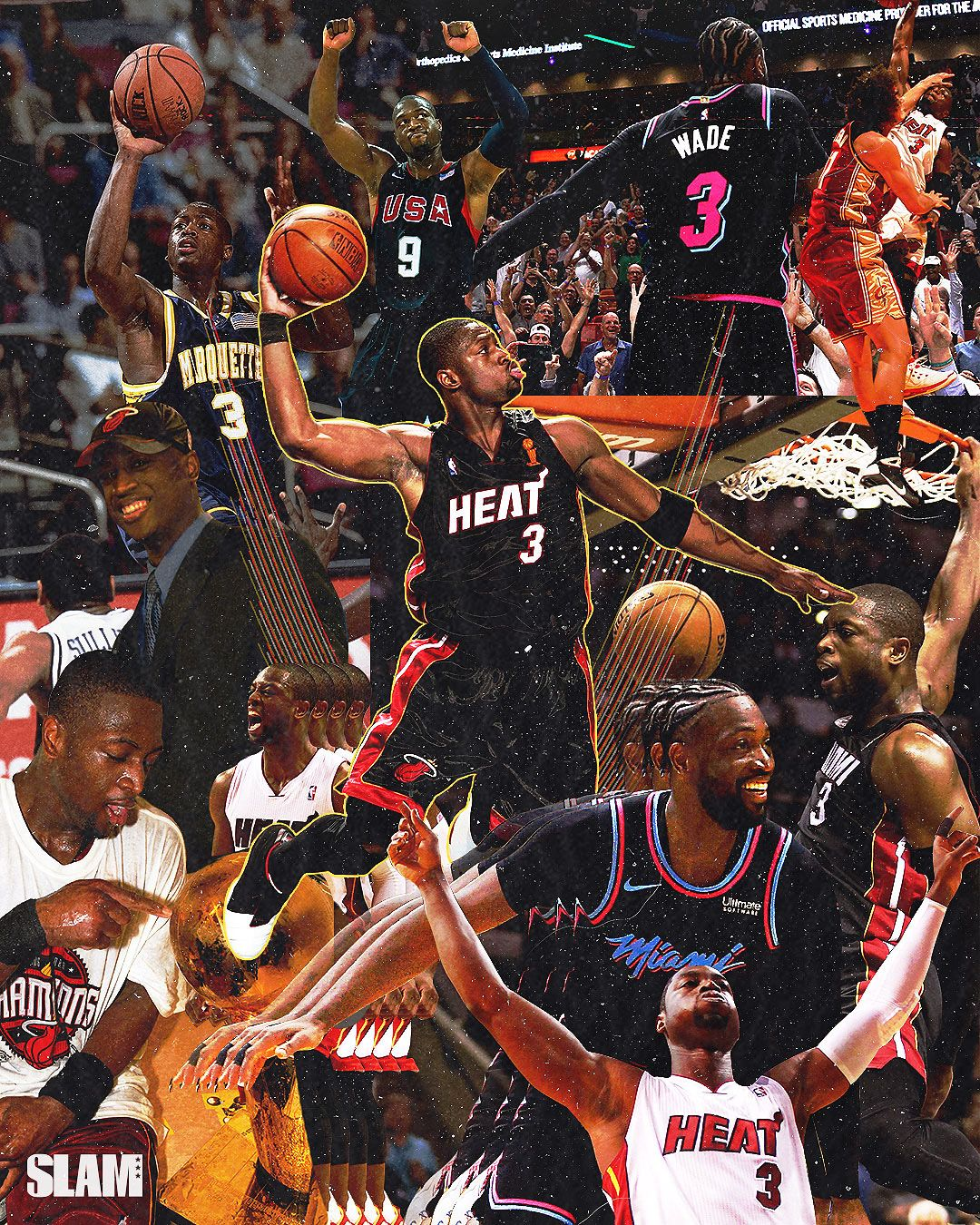 Dwyane Wade Career Collage On Behance In 2020 Dwyane Wade Nba Basketball Art Basketball Players Nba