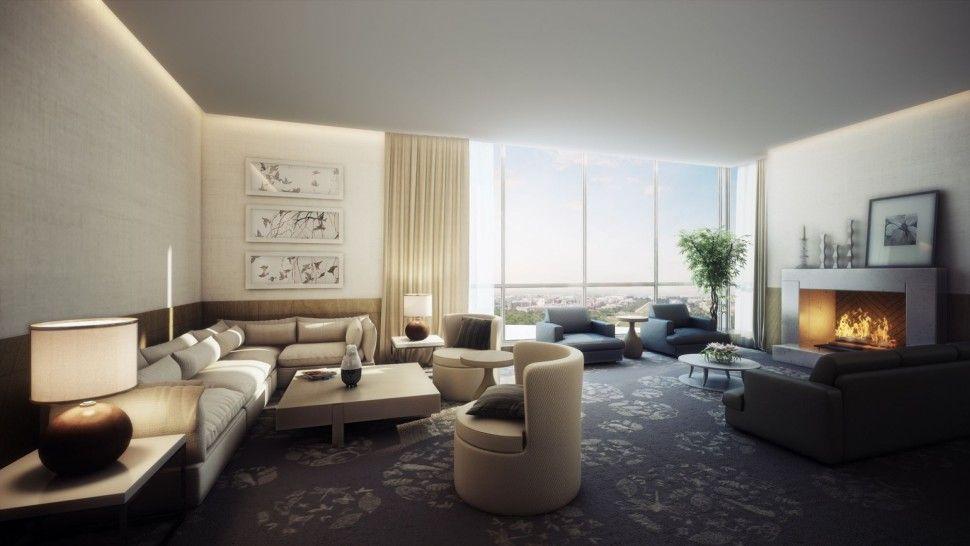 Interior Classic Luxury Interior Living Room Design Concept For Small House Unique Modern Interior Furniture Ideas Sectional Rectangular Sofa Colors Cushion Fam Spacious modern living room interiors