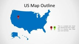 US Map PowerPoint | PowerPoint Maps | Pinterest | Template