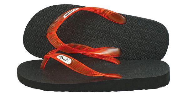 e65b29c18eb5 Locals Arch Support Orange-Red Strap Slippa Hawaiian Flip Flops