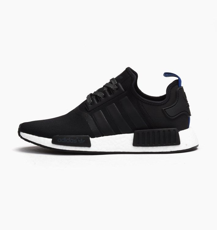 Adidas Nmd R1 Originals Men S Running Shoes Black Core White Blue S31515 Running Shoes For Men Black Running Shoes Adidas Nmd R1
