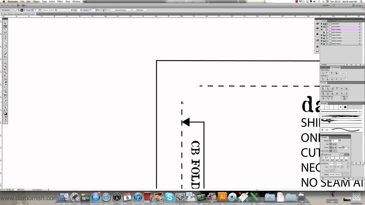 Adobe Illustrator - Pattern Making - Adding Seam Allowance damorrish ...
