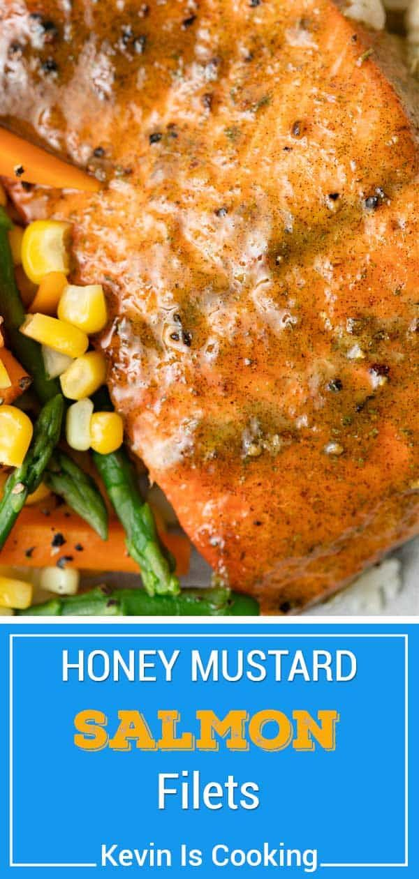 Baked Salmon Recipe with Honey Mustard Glaze   Kevin is Cooking