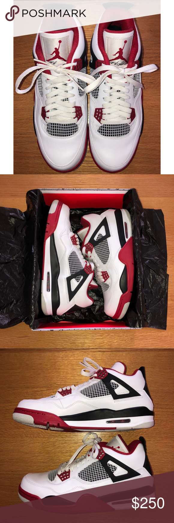 quality design 74a0c 17447 Air Jordan 4 Retro Fire Red 2012 White Varsity-Red Black Air Jordan 4 Retro.  Lightly worn with original box. Great condition with one small mark shown.