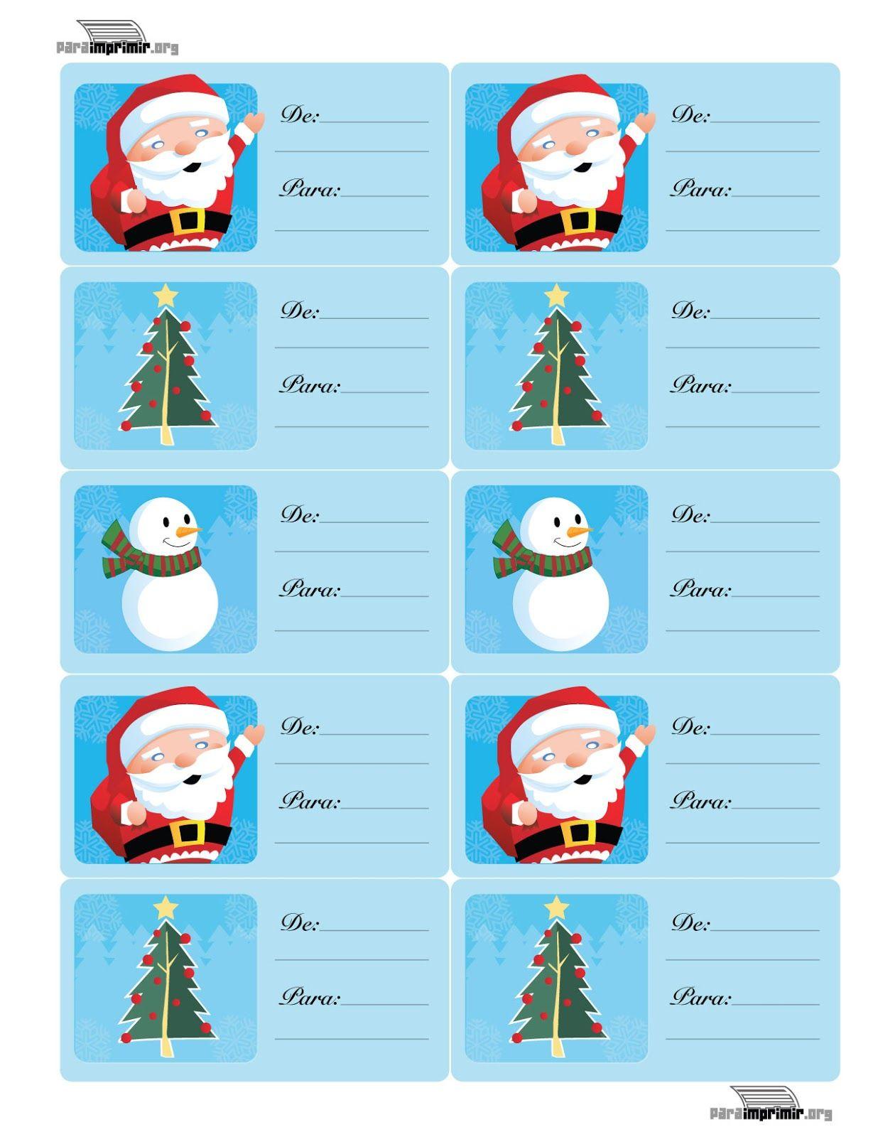Etiquetas regalos de navidad para imprimir | Divertidas de Navidad ...