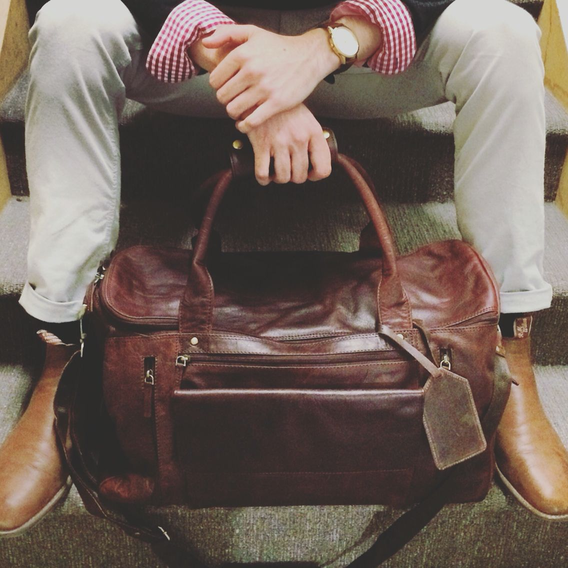 Arrive In Style With The Lone Ranger Weekender Bag From Rugged Hide By Oran Leather It Now At Es Clothing