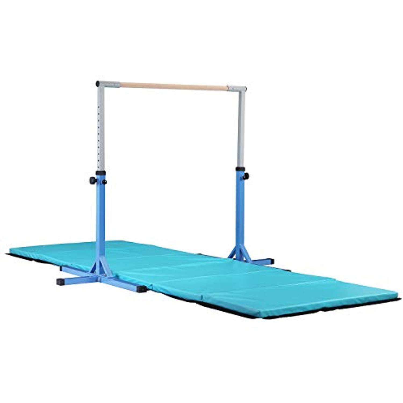 HYD-Parts Adjustable Kip Bar Fitness Gymnastics Training Bar Gym Mat,Height Adjustable Horizontal Kip Bar Mats Kids