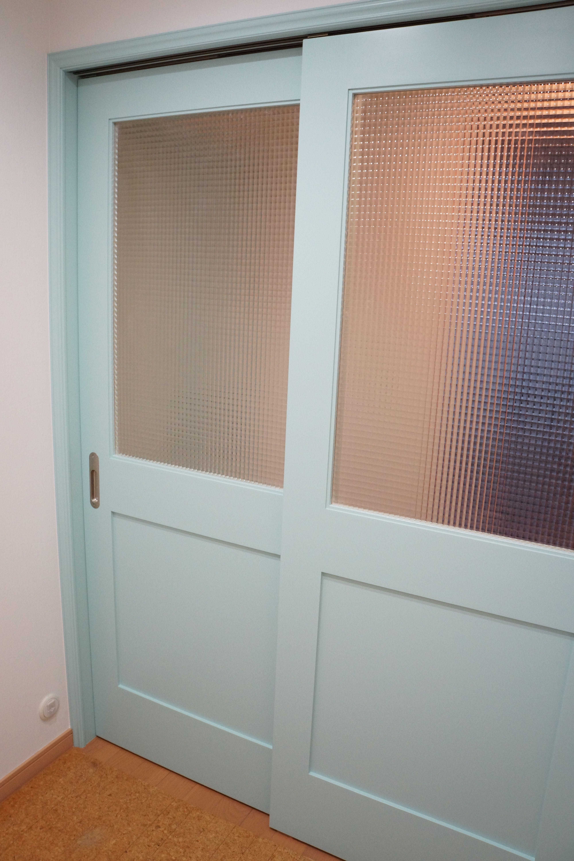 室内ドア 引き戸 ガラス戸 造作ドア 扉 インテリア 施工例 いえラボ