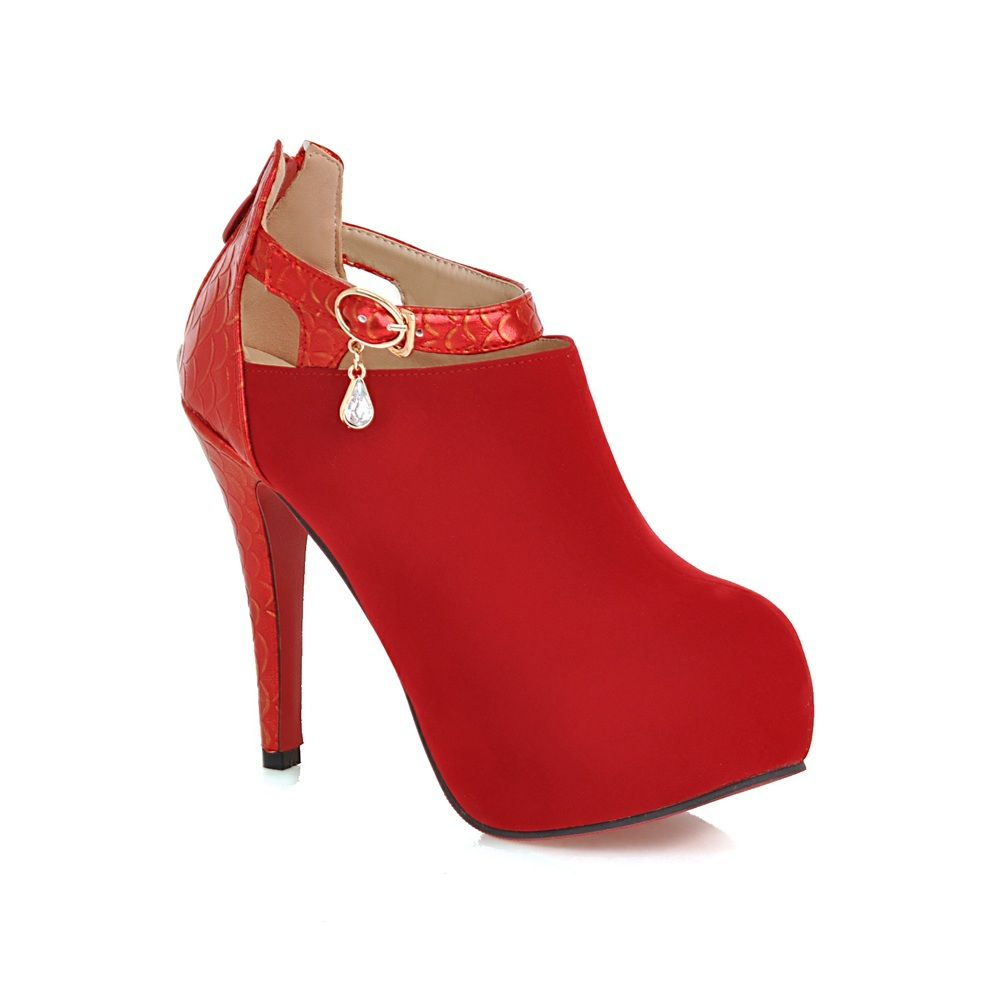 Armoire Fall Elegant Red Black Apricot Beige Super High Heels Women Platform Pumps Ladies Shoes A5168 Plus Big Size 33-43 alishoppbrasil