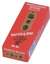 Morning Star Sandlewood Scent Japanese Incense Sticks Box of 50 Sticks