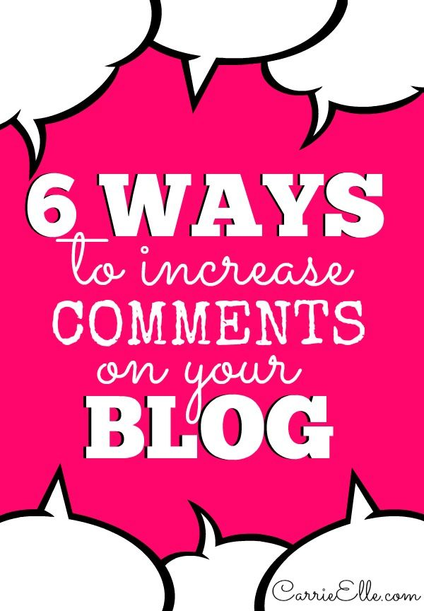 6 Ways to Increase Comments on Your Blog - free printable checklist to make your commenting system is up to par!