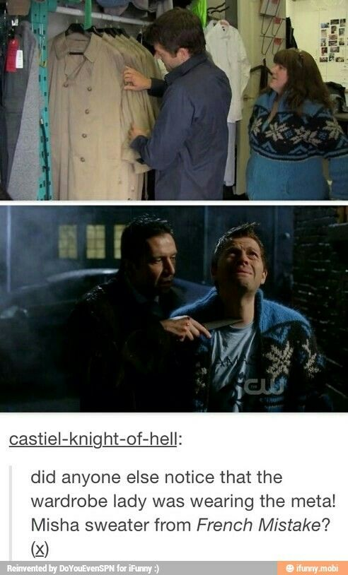 Meta!Misha sweater ... LOL #Supernatural fandom #Misha