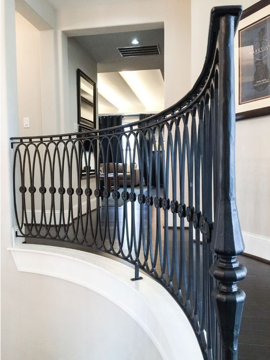This custom oval design was created using our fabricated for Custom staircase design