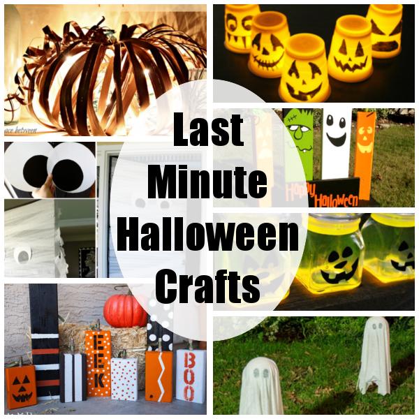 diy home sweet home last minute halloween crafts - Last Minute Halloween Decorations
